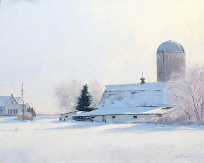 Sunday Morning Frost - 16x 20  Oil (John Marion Pardy Landscape Award of Excellence  2010 OPA National)