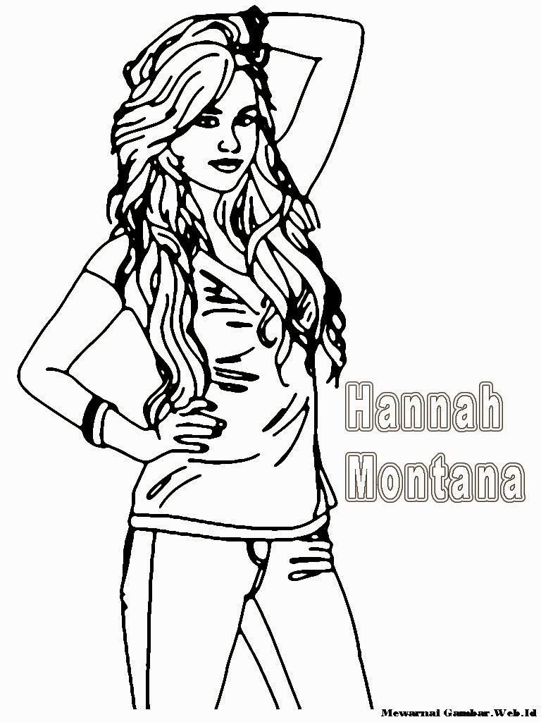 Mewarnai Gambar Hannah Montana