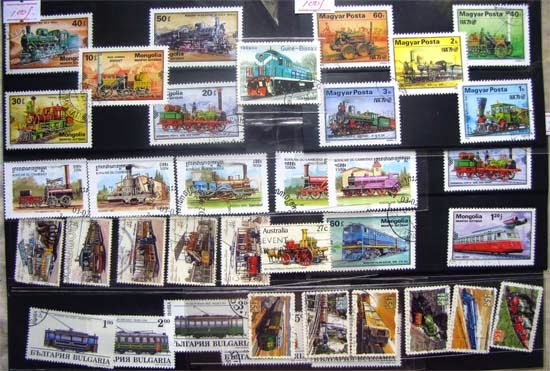 Locomovite and Railway Postage Stamps