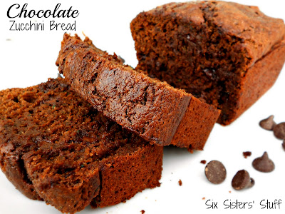 Chocolate Zucchini Bread  and more recipes for healthy chocolate zucchini bread on MyNaturalFamily.com #zucchini #chocolate #bread #recipe