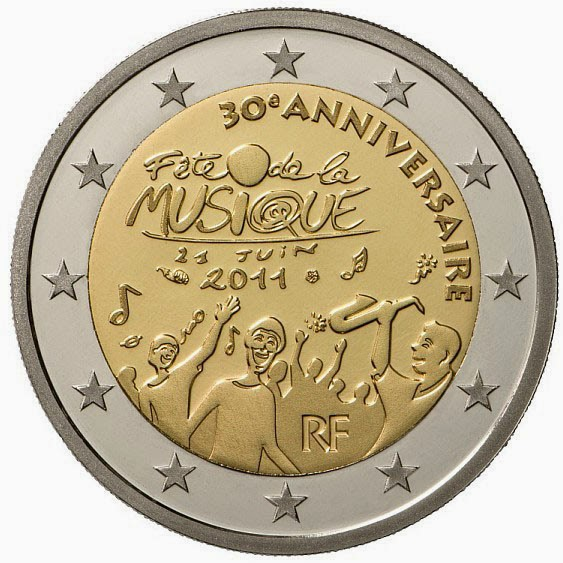 2 Euro Commemorative Coins France 2011 Day of Music - Fête de la Musique