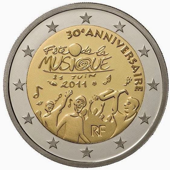 2 Euro Commemorative Coins France 2011 Day of Music - Fête de la Musique
