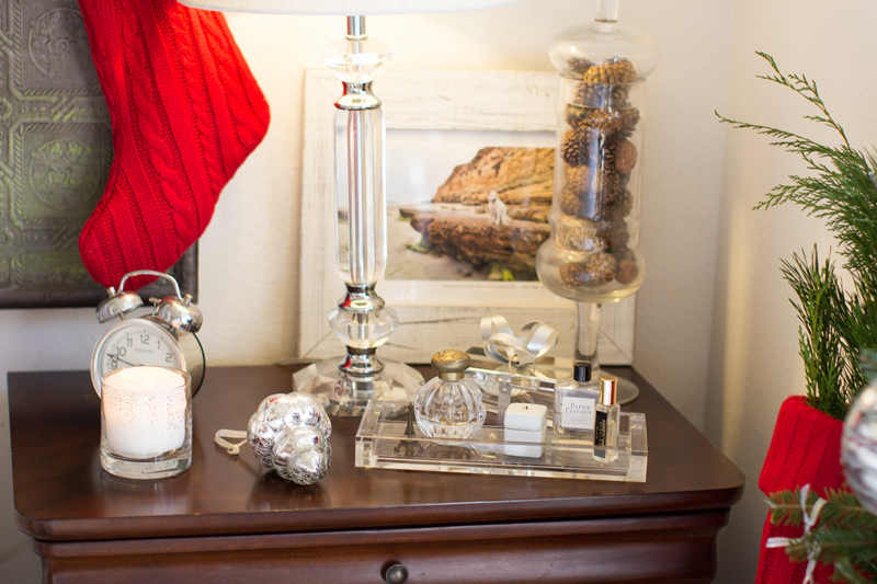 side table holiday decor