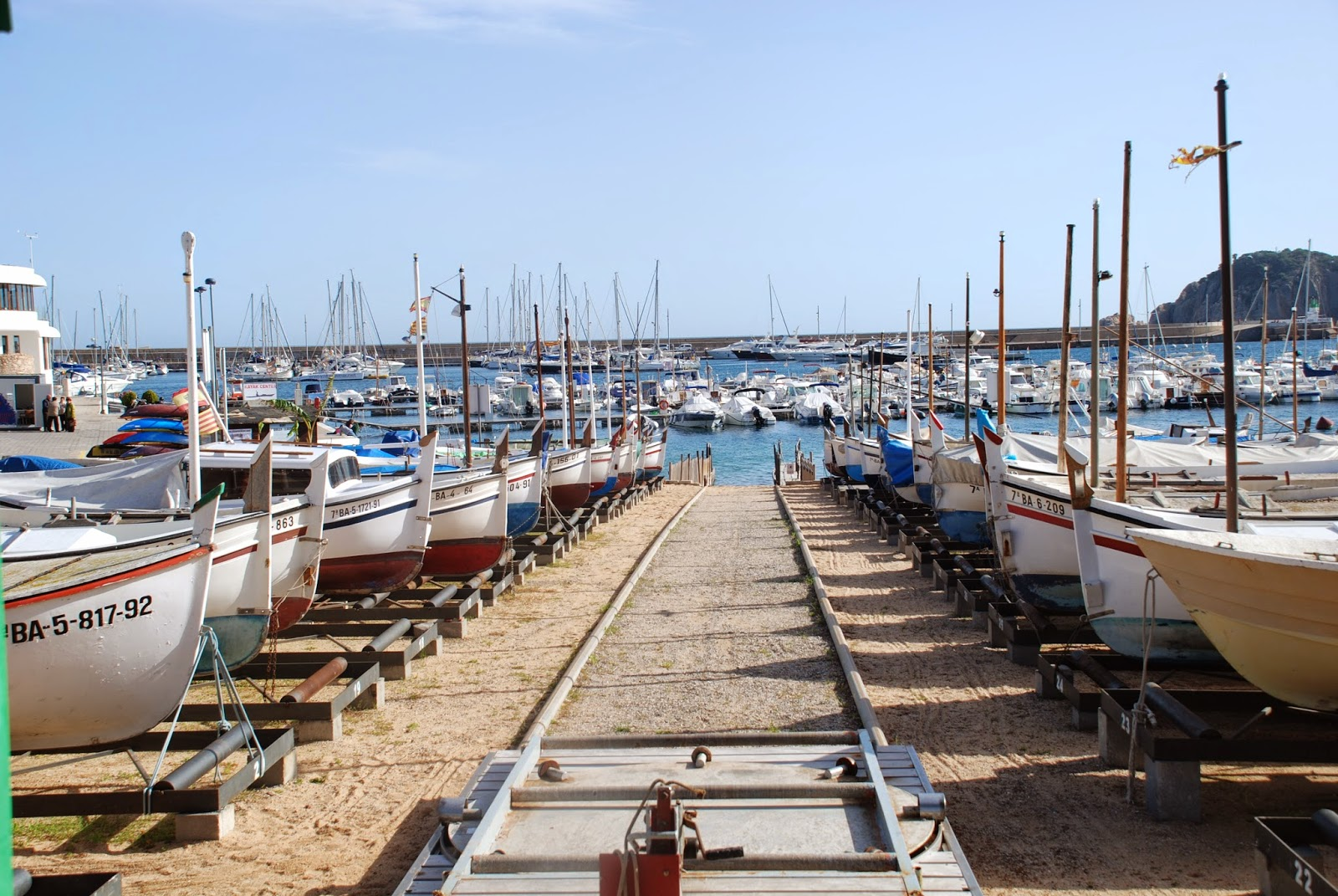 Boats on the beach, Sant Feliu de Guíxols, Catalonia