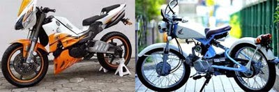 Modifikasi Motor Bebek