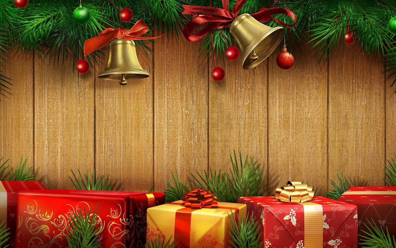 Houten kerst achtergrond | Bureaublad Achtergronden Wallpapers Kerst Achtergronden