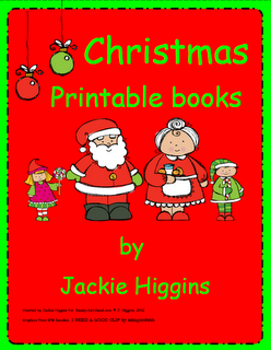 giveaways, printable Christmas books for early readers