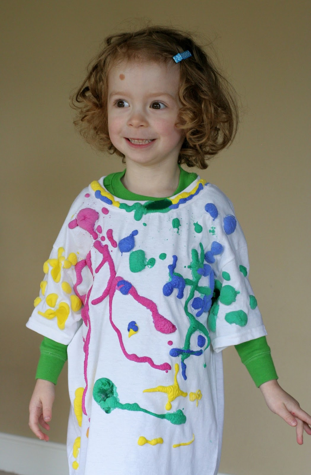 make your own puffy paint shirt