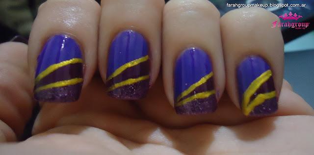Nail Art uñas violetas