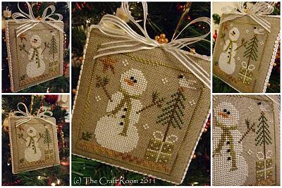 Needlepoint snowmen.