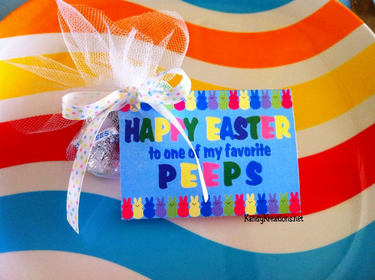 Happy Easter to one of my favorite Peeps Candy Bag Topper Printable