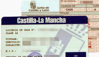 Licencias de caza de Castilla-La Mancha y Castilla y León