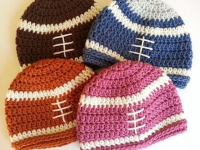 crochet football beanie for babies