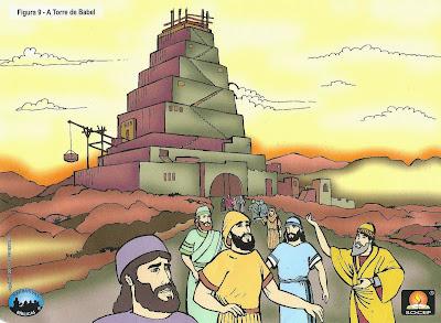 A torre de babel-desenho colorido