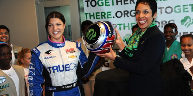 Katherine Legge To Carry Girl Scout Logo On Helmet At