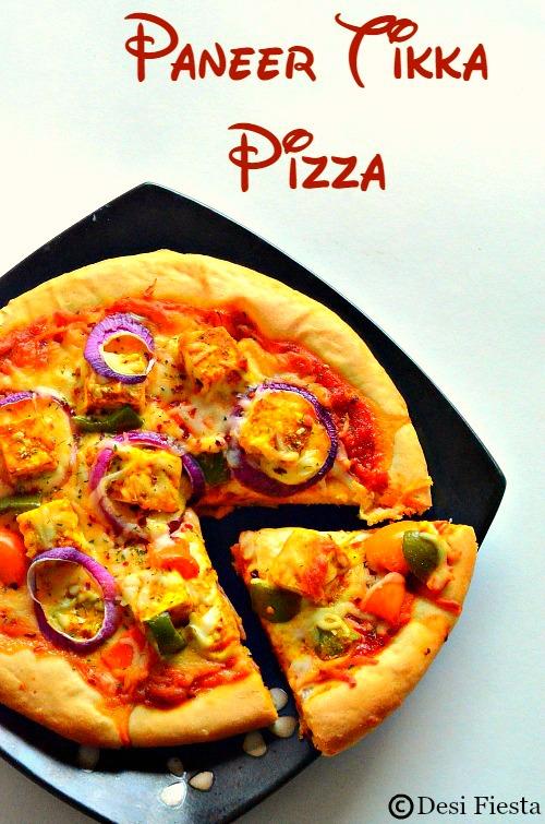 Paneer Tikka masala Pizza