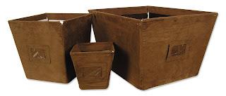 Brown Storage Bins
