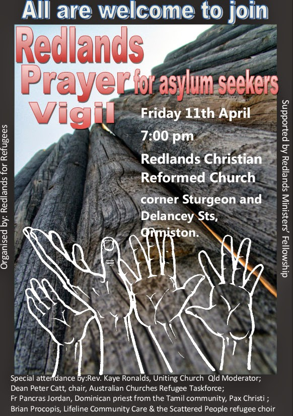 Redlands4Refugees organise a prayer vigil