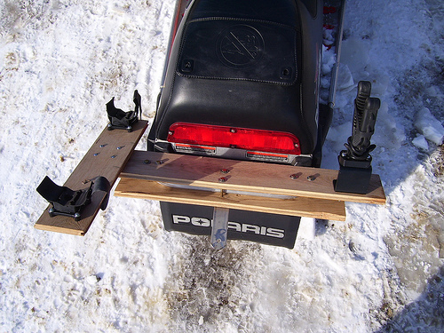 Snowmobile Ice Auger Carrier2