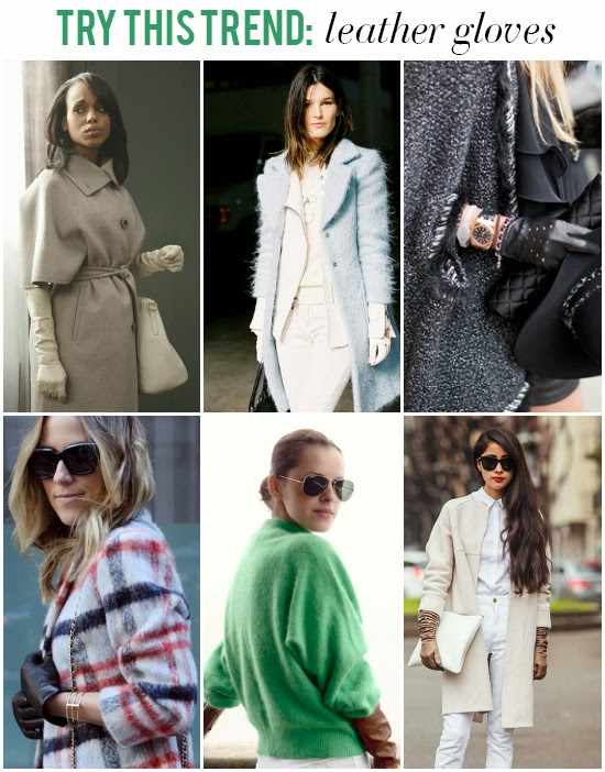Try this Trend: Leather Gloves // the Olivia Pope effect! Get the look >> http://lapetitefashionista.blogspot.com/2013/11/try-this-trend-leather-gloves.html