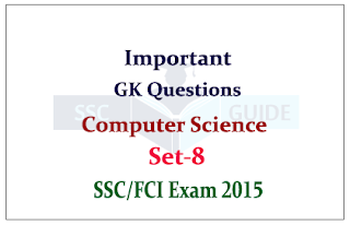 Computer Quiz Questions for FCI / SSC CHSL