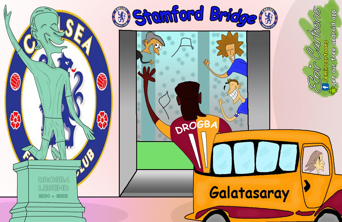 Dider Drogba,DROGBA KARIKATURA,DROGBA CARTOON, Chelsea,Chelsea DROGBA, Galatasaray,Galatasaray DROGBA, emir balkan cartoons, omar momani, fudbal,liga prvaka,