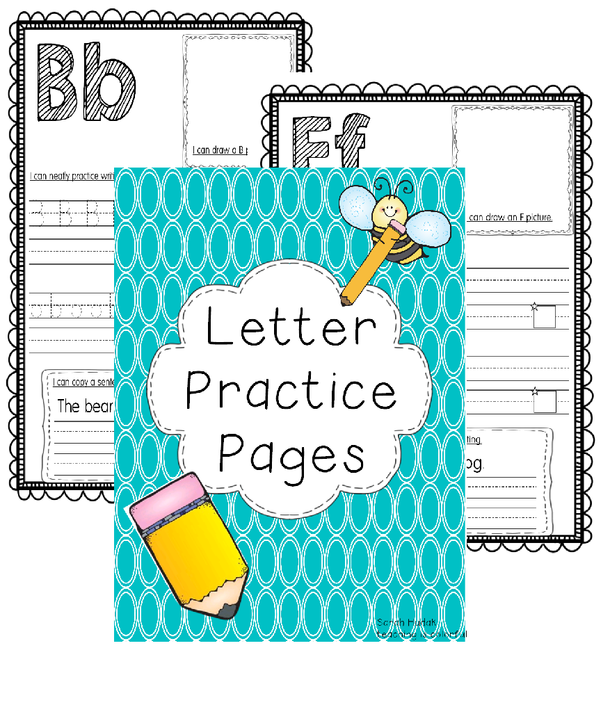 http://www.teacherspayteachers.com/Product/Letter-Practice-Pages-1085465
