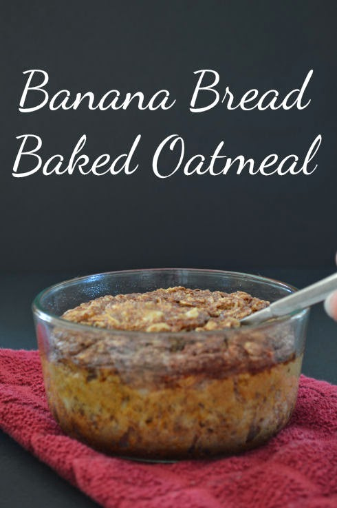 Baked Banana Bread Oatmeal | seriously-lovely.blogspot.com