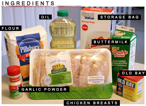 fried chicken ingredients