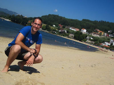 Cesantes Beach in Ria de Vigo