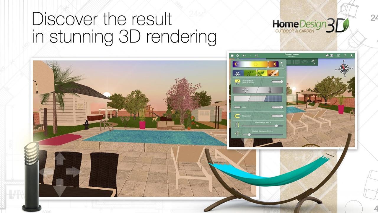Aplikasi desain rumah 3d android interior exterior arena for Home design 3d outdoor garden 4 0 8