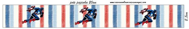 Etiquetas para imprimir gratis de Capitán América.