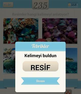 Resimli+Kelime+Bulmaca+çözümü denizin altındaki mercan gibi şeyler renkli yosunlar