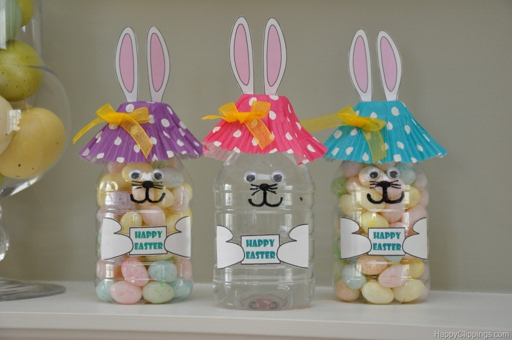 Gifts that say wow fun crafts and gift ideas easter bunny water here is a easter craft idea that kids will love use empty water bottles to make the cutest easter bunnies ever the hat is a cupcake liner negle Gallery