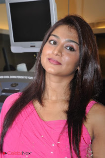 Tamil Actress Varsha Ashwathi Picture Gallery in Pink Long Dress at a Pressmeet 0014