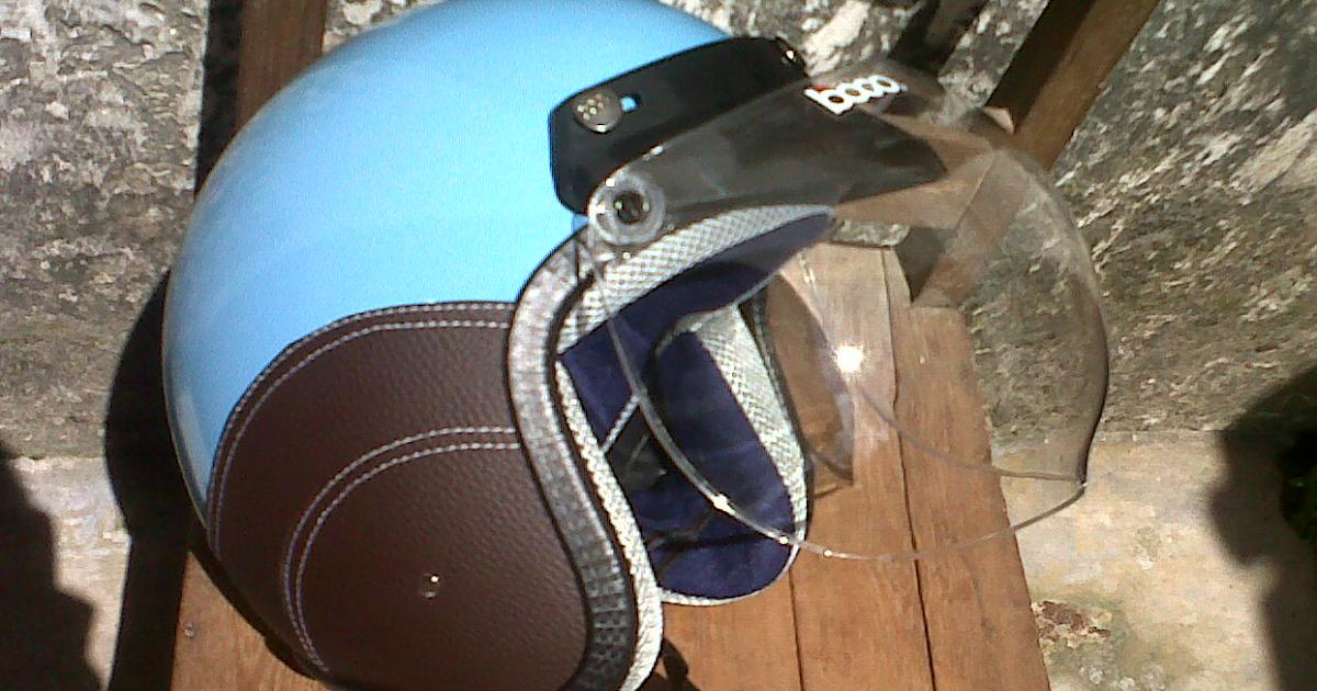 helm vespa bogo ksct biru muda helm vespa