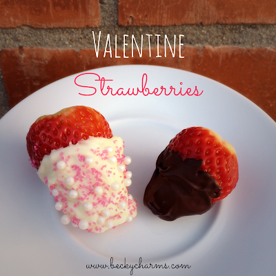 Pretty Valentine Strawberries :: BeckyCharms.com