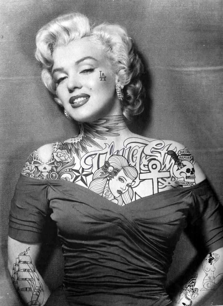 Tattooed hollywood divas the cherry is on my cake - Marilyn monroe diva ...
