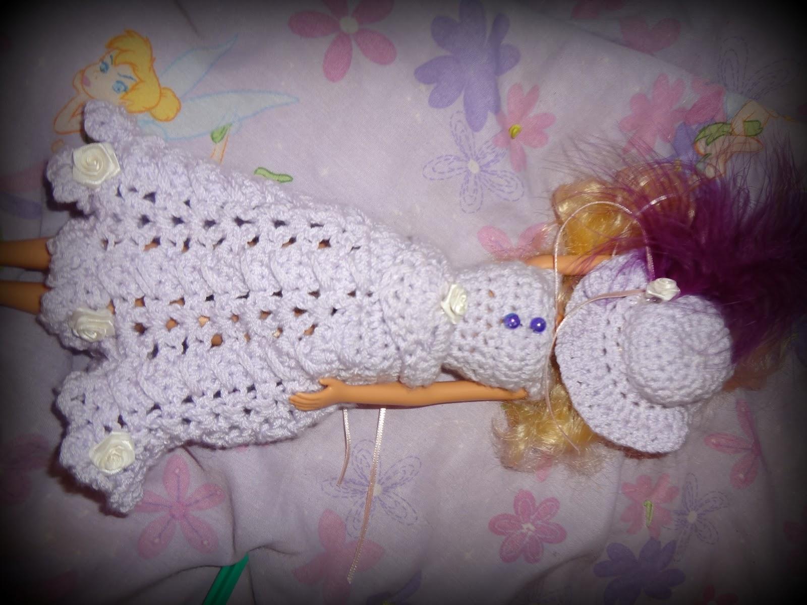 Free Crochet Patterns For Barbie Hats : Niftynnifers Crochet & Crafts: Crochet Barbie Hat Free ...