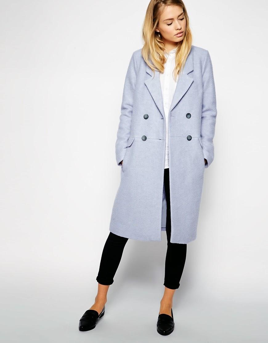 pale blue winter coat