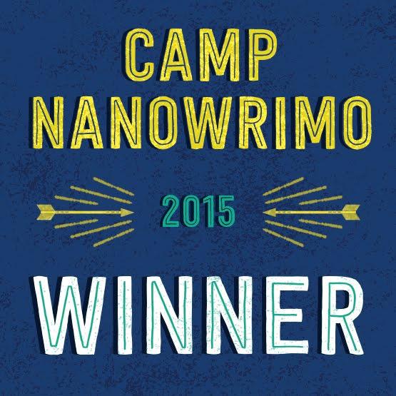 2015 Camp NaNoWriMo Winner