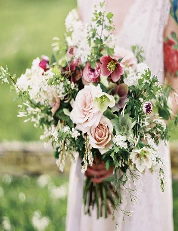 Bouquet de Mariée campagne champêtre fleurs