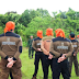 Kemah Peduli PKS Kalsel, TNI Latih Peserta Jadi Penyintas Bencana