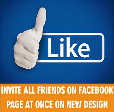 Invite all friends on facebook page at once on new design