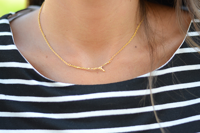 collana minimal oro