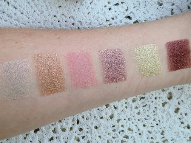 a picture of ColourPop Mondays in Malibu (swatch) ; Gecko, Snakebite, Sand Swoon, Prickly Pear, Mirage, Hot Tamale
