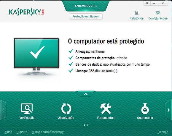 licença kaspersky 2013 1 ano promoção