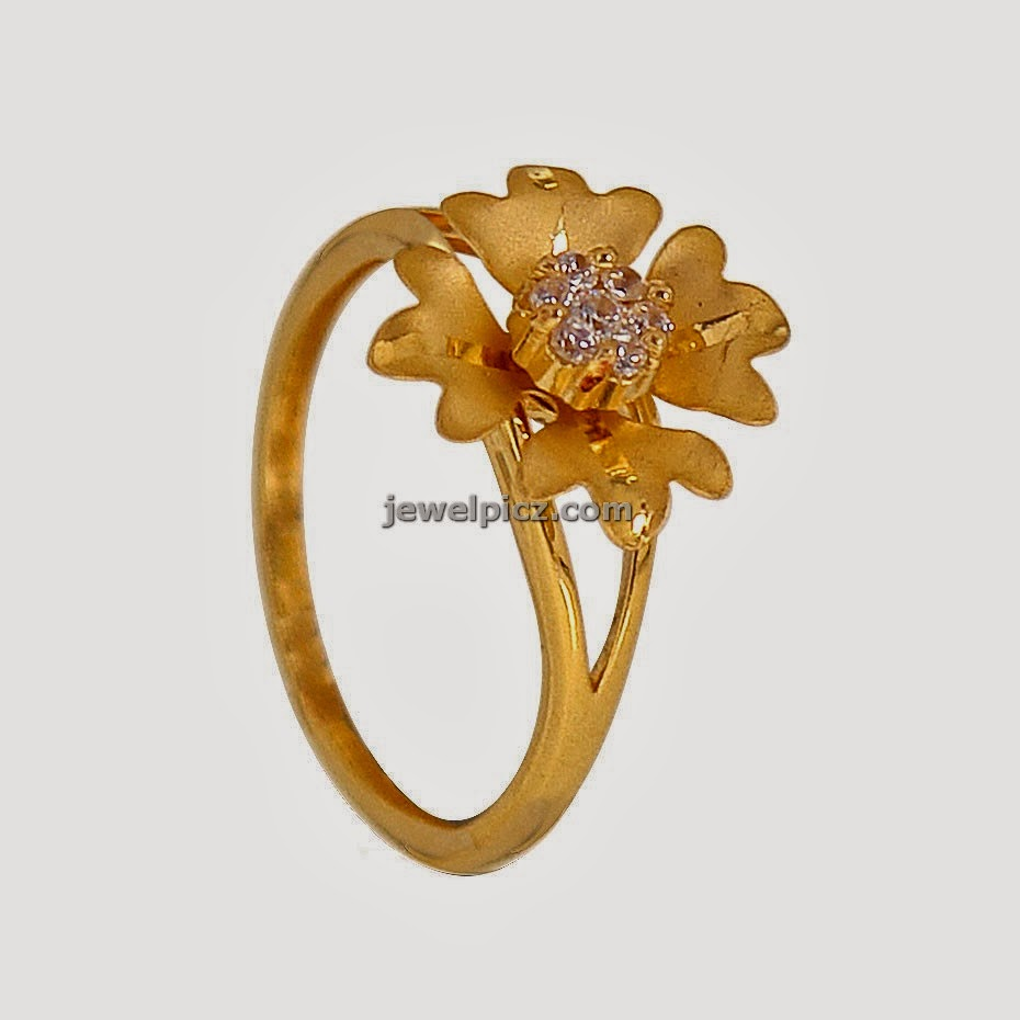 flower model gold rings for females by prince jewellery