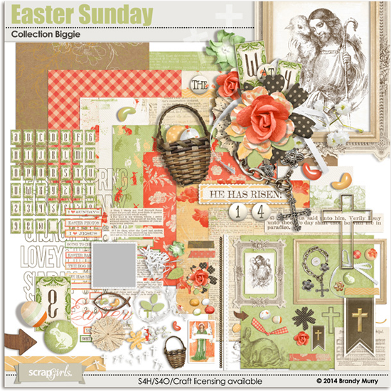 Christian Easter Digital Scrapbooking Kit