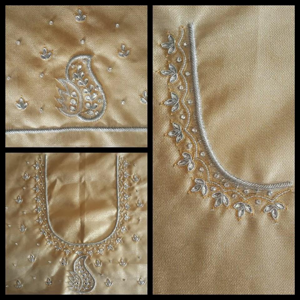 Sparkling Fashion: Simple designer work blouses for pattu/silk sarees